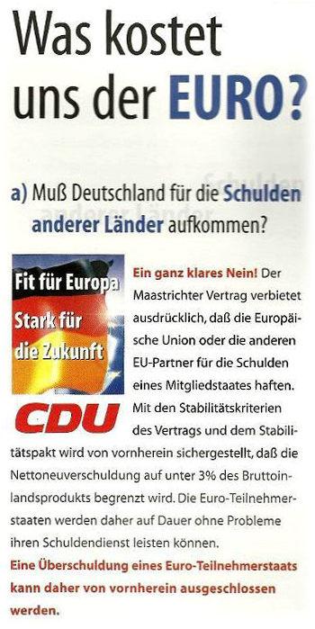 1999 Wahlkampfplakat der CDU
