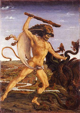Antonio del Pollaiolo - Ercole e l'Idra e Ercole e Anteo