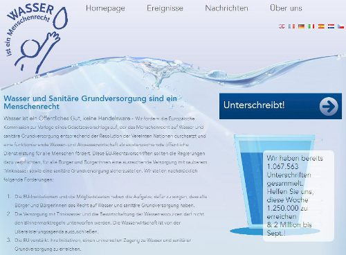Bildquelle: Screenshot-Ausschnitt www.right2water.eu