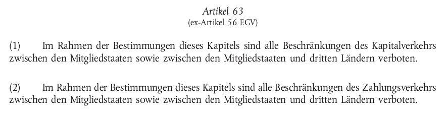 Lissabon-Vertrag Artikel 63