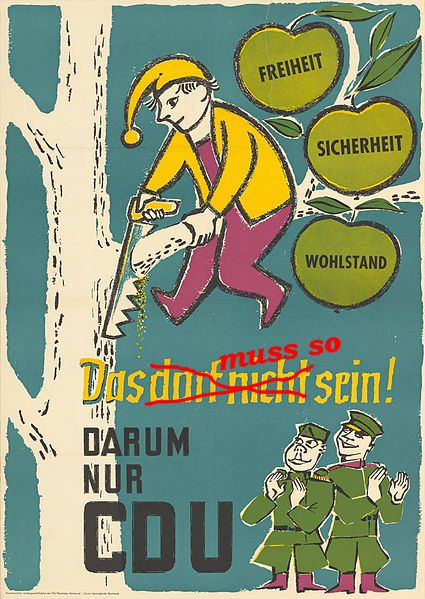 CDU Wahlplakat (1957)
