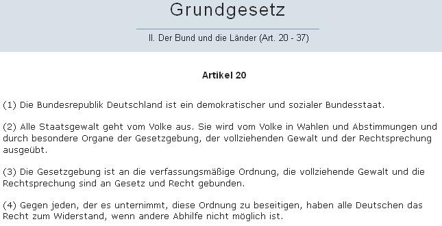 GG Artikel 20