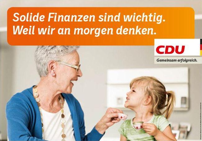 CDU - Solide Finanzen sind wichtig