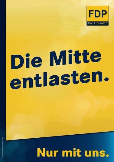 FDP - Die Mitte entlasten