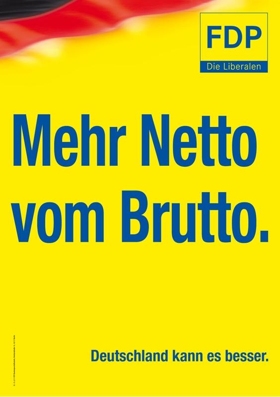 FDP - Mehr Netto vom Brutto