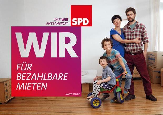 SPD - Für bezahlbare Mieten