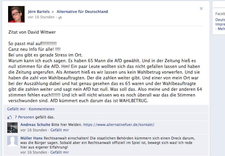 AfD-Facebook-Seite