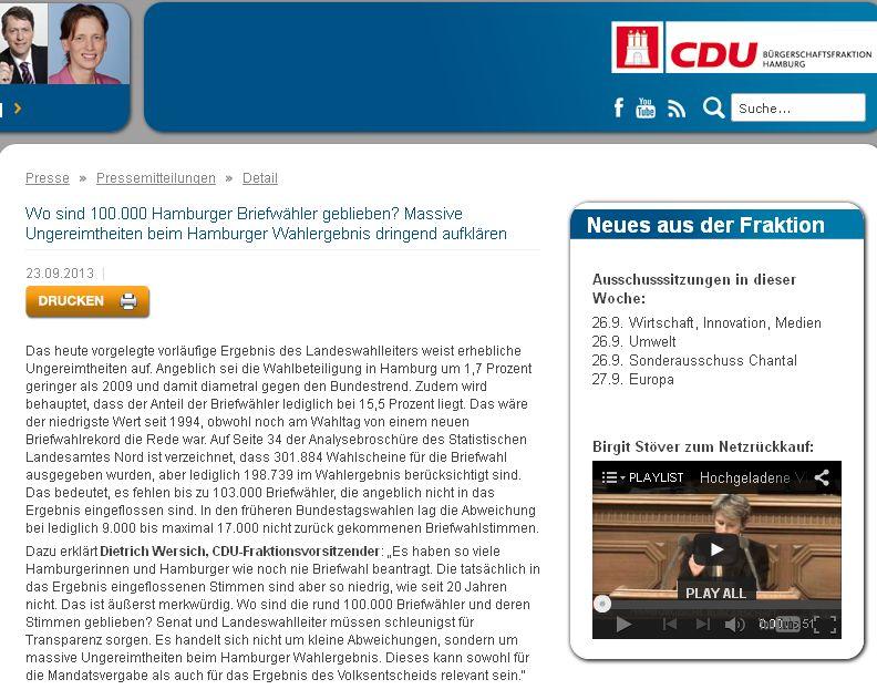 CDU Briefwahlstimmen