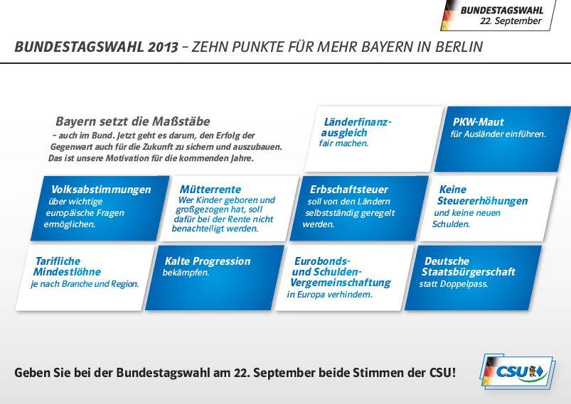 CSU Wahlflyer