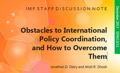 IMF - Obstacles to International Policy Coordination