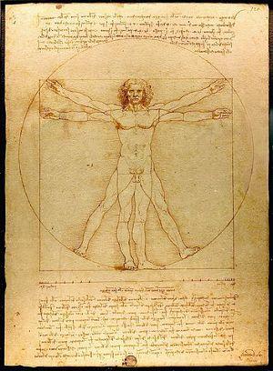 Leonardo Da Vinci - Der vitruvianische Mensch