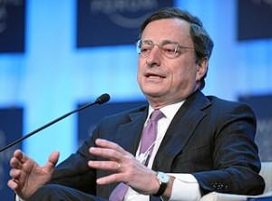 Mario Draghi - Bildquelle: Wikipedia / World Economic Forum
