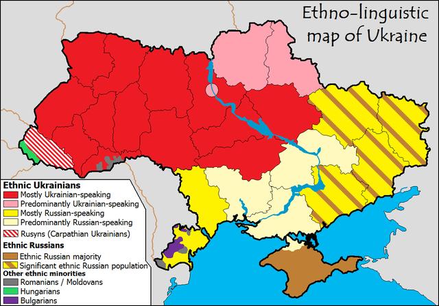 Ukraine - Ethnien - Bildquelle: Wikipedia / Yerevanci