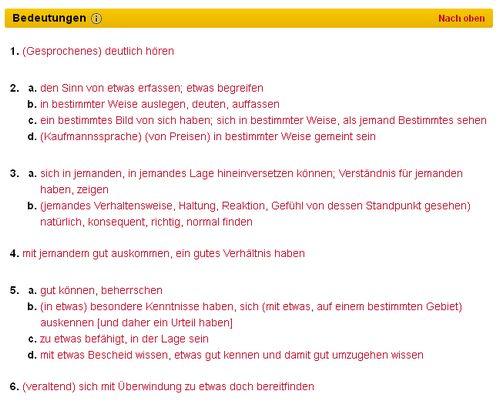 Duden - Verstehen - Bildquelle: Screenshot-Ausschnitt www.duden.de