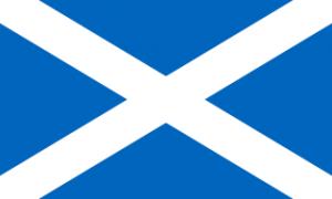 Flagge Schottland - Bildquelle: Wikipedia