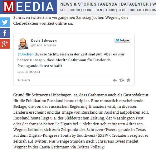 Meedia Beitrag - Bildquelle: Screenshot-Ausschnitt www.meedia.de