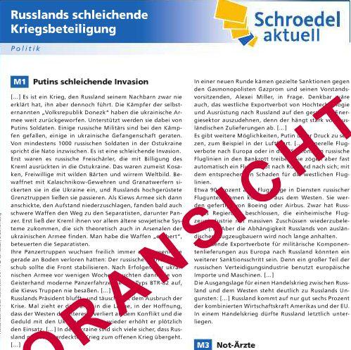 Schroedel aktuell - Bildquelle: Screenshot-Ausschnitt www.schroedel.de