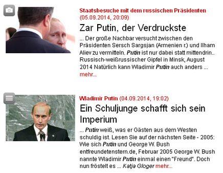Stern und Putin - Bildquelle: Screenshot-Ausschnitt www.stern.de
