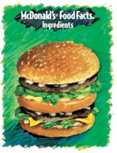 McDonalds Ingredients - Bildquelle: Screenshot-Ausschnitt McDonald's Ingredient Facts