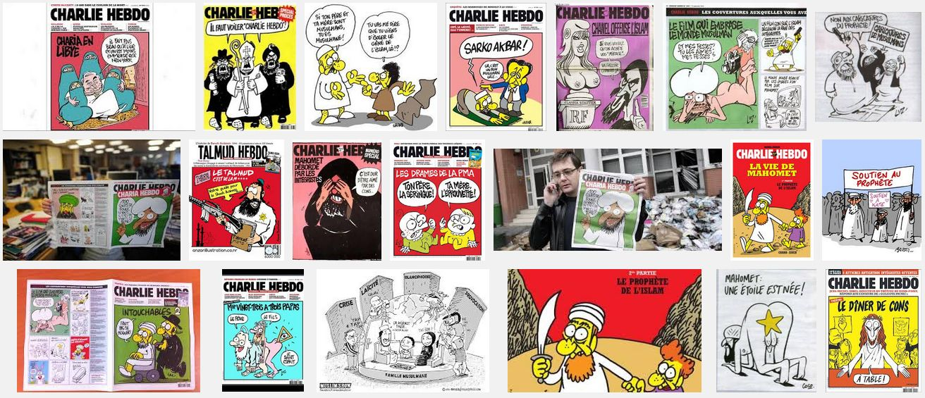 Charlie Hebdo - Bildquelle: Screenshot-Ausschnitt Google Bildersuche (Stand 13. Januar 2015)