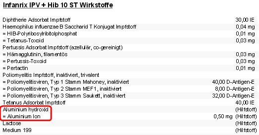 Infanrix - Bildquelle: Screenshot-Ausschnitt www.medvergleich.de