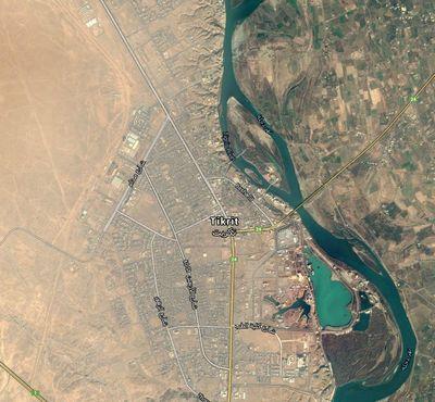 Tikrit - Google Maps - Bildquelle: Screenshot-Ausschnitt Google Maps