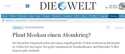 Die Welt - Walter Laqueur - Bildquelle: Screenshot-Ausschnitt www.welt.de