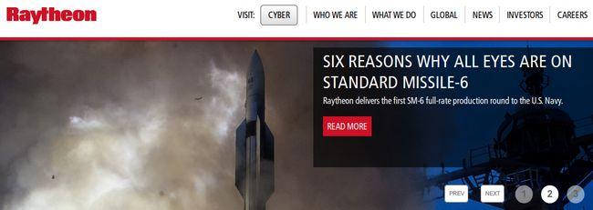 Raytheon - Bildquelle: Screenshot-Ausschnitt www.raytheon.com