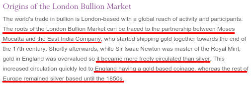 LBMA - Origins of the London Bullion Market - Bildquelle: statelesshomesteading.com