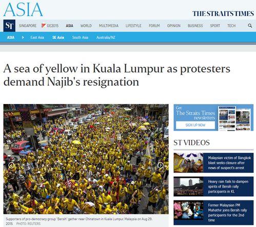 The Straits Times - Bildquelle: Screenshot-Ausschnitt www.straitstimes.com