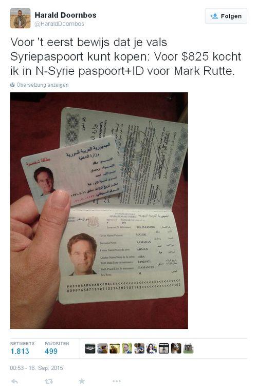 Mark Rutte - Bildquelle: Screenshot-Ausschnitt Twitter