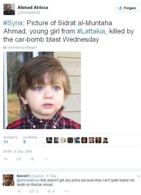 Sidrat al-Muntaha Ahmad - Bildquelle: Screenshot-Ausschnitt Twitter