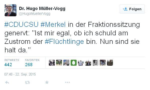 Tweet Müller-Vogg - Bildquelle: Screenshot-Ausschnitt Twitter