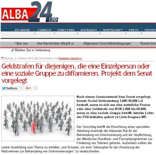 Alba24ro - Bildquelle: Screenshot-Ausschnitt www.alba24.ro