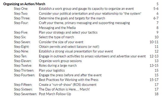 Leitfaden - Bildquelle: Screenshot-Ausschnitt Organizing Guide
