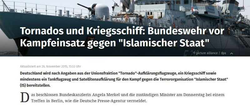 Syrien Bundeswehreinsatz - Bildquelle: Screenshot-Ausschnitt www.web.de