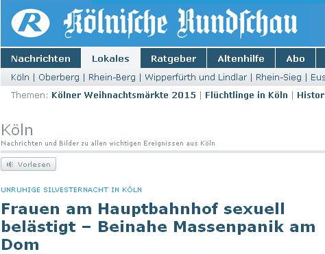 Kölner Rundschau - Bildquelle: Screenshot-Ausschnitt www.rundschau-online.de