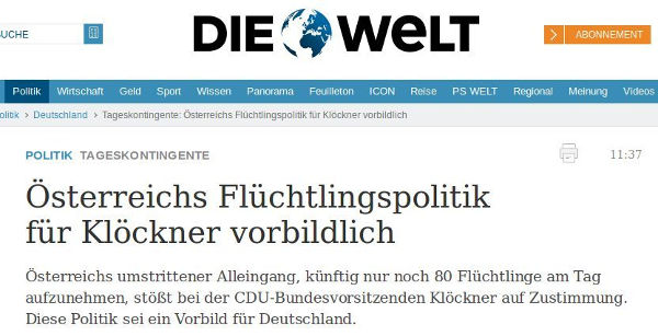 Die Welt - Bildquelle: Screenshot-Ausschnitt www.welt.de