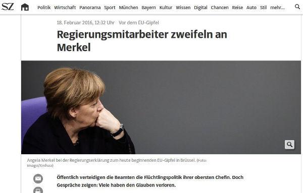 Süddeutsche Zeitung - Bildquelle: Screenshot-Ausschnitt www.sz.de