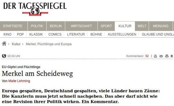 Tagesspiegel - Bildquelle: Screenshot-Ausschnitt www.tagesspiegel.de