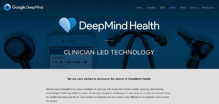 DeepMind - Bildquelle: Screenshot-Ausschnitt www.deepmind.com