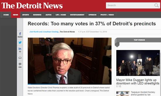 Detroit News - Bildquelle: Screenshot-Ausschnitt www.detroitnews.com