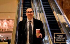Steven Mnuchin - Bildquelle: Screenshot-Ausschnitt www.thedailysheeple.com
