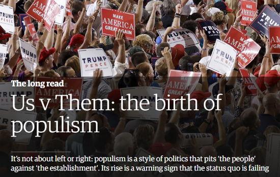 Populismus - Screenshot-Ausschnitt www.theguardian.com