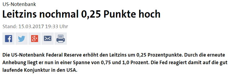 Fed Zinserhöhung - Bildquelle: Screenshot-Ausschnitt www.tagesschau.de