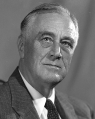 Franklin D. Roosevelt - Bildquelle: Wikipedia / U.S. National Archives and Records Administration, gemeinfrei