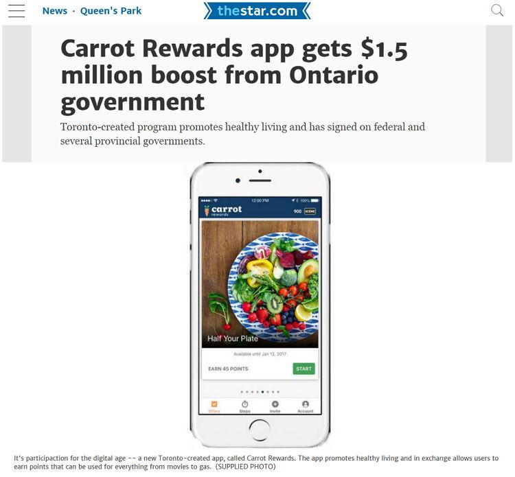 The Star - Carrot Rewards - Bildquelle: Screenshot-Ausschnitt The Star