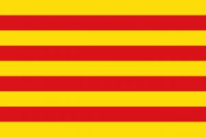 Flagge Katalonien - Bildquelle: Wikipedia / Martorell, Namensnennung – Weitergabe unter gleichen Bedingungen 2.5 generisch