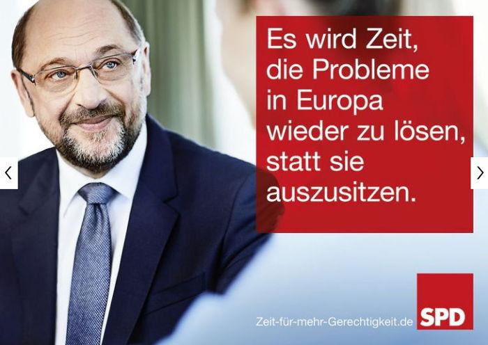 SPD Wahlkampfplakat - Bildquelle: Screenshot-Ausschnitt www.spd.de