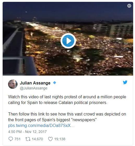 Twitter - Julian Assange - Bildquelle: Screenshot-Ausschnitt Twitter